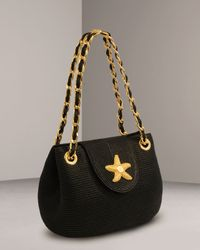 Eric Javits | Black Squishee® Star Shoulder Bag | Lyst