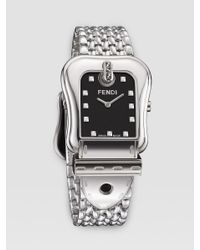 Fendi | Black B Milanese Watch | Lyst