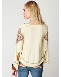 Free People | Natural The Hauz Khas Village Top | Lyst