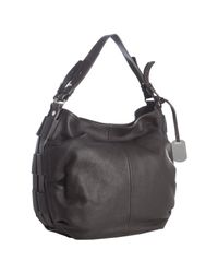 Furla | Black Coffee Leather Gam Hobo | Lyst