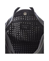 Furla - Black Pebbled Leather Agata Bandoliera Convertible Bag - Lyst