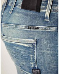 G-Star RAW - Blue New Elva Slim Tapered Jeans - Lyst