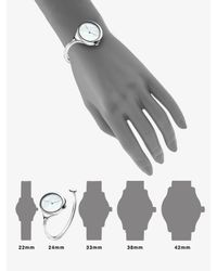 Georg Jensen - Gray Stainless Steel & Mother Of Pearl Bangle Watch - Lyst
