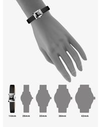 Gucci | Black G-frame Diamond & Satin Strap Watch | Lyst