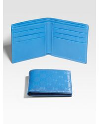 Gucci - Blue Bi-fold Wallet for Men - Lyst