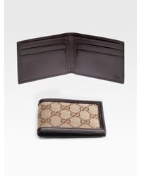 Gucci | Brown Mini Bi-fold Wallet for Men | Lyst