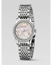 Gucci | Metallic G-timeless Stainless Steel Bracelet Diamond Watch | Lyst
