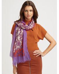 Gucci | Purple Milot Floral Stole | Lyst