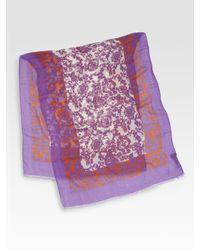 Gucci - Multicolor Milot Floral Stole - Lyst