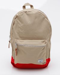 Herschel Supply Co. | Natural Settlement Two Tone Backpack in Khaki/red for Men | Lyst
