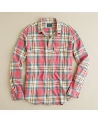 J.Crew | Red Vintage Flannel Shirt in Amherst Plaid for Men | Lyst