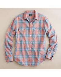 J.Crew | Blue Vintage Flannel Shirt in Montrose Plaid for Men | Lyst