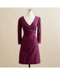 J.Crew | Purple Lilabeth Dress in Silk Taffeta | Lyst