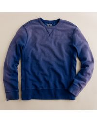 J.Crew | Blue Sun-washed Fleece Sweatshirt for Men | Lyst