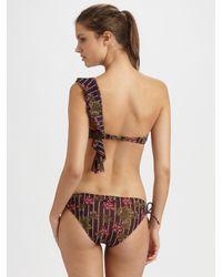 Jean Paul Gaultier | Brown Two-Piece One-Shoulder Bandeau Bikini | Lyst