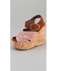 Jeffrey Campbell - Pink Darcy 2 Tone Suede Platform Sandals - Lyst