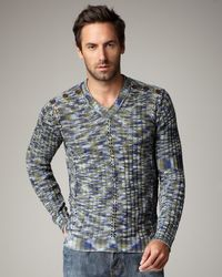 Just Cavalli | Gray Marble-knit Sweater for Men | Lyst
