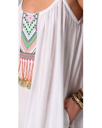 Mara Hoffman | White Embroidered Peasant Dress | Lyst