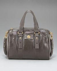 Marc By Marc Jacobs | Gray Totally Turnlock Shifty Satchel, Aluminum | Lyst