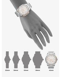 Michael Kors - Metallic Two-tone Crystal Chronograph Watch - Lyst