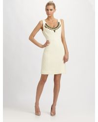 MILLY - White Kaylee Beaded Dress - Lyst