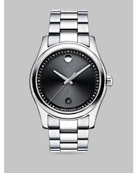 Movado | Metallic Sportivo Stainless Steel Museum Dial Watch | Lyst