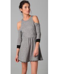 Pencey - Gray Open Shoulder Dress - Lyst