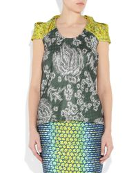 Peter Pilotto | Multicolor Printed Silk Top | Lyst