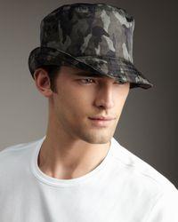 Prada | Green Camouflage Bucket Hat for Men | Lyst