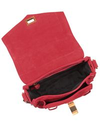 Proenza Schouler - Ps1 Red Suede Pouch Satchel Bag - Lyst