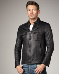 Rag & Bone | Black Hoxton Leather Jacket for Men | Lyst