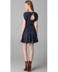 Rebecca Taylor - Blue Ikat Heart Printed 40s Dress - Lyst