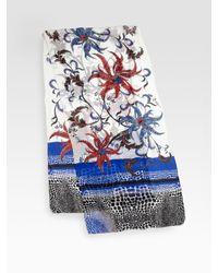 Roberto Cavalli - Blue Phuket Print Stola Scarf - Lyst