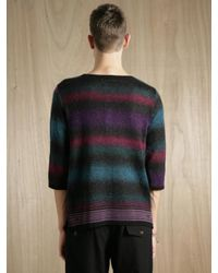 Sasquatchfabrix - Multicolor Mens Mohair Multi Border Sweater for Men - Lyst