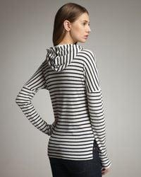 Splendid   White Venice Striped Hoodie   Lyst