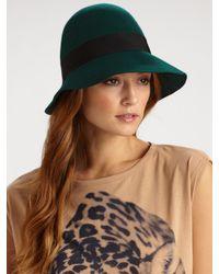Stella McCartney - Green Wool Hat - Lyst