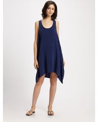 Thakoon Addition | Blue Silk Tank Dress | Lyst