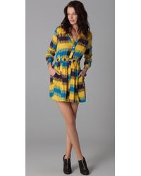 Thakoon Addition | Blue Gathered Waist Shirtdress | Lyst