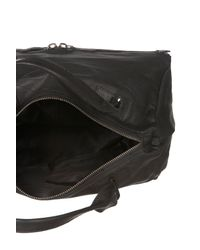Topshop | Black Leather Dianmond Shape Holdall | Lyst