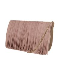 TOPSHOP | Brown Taupe Chiffon Clutch | Lyst
