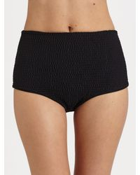 Tori Praver Swimwear - Black High-Waist Bikini Bottom - Lyst