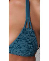 Tori Praver Swimwear - Blue Daisy Bikini Top - Lyst