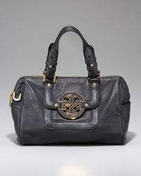 Tory Burch | Black Amanda Dome Satchel | Lyst