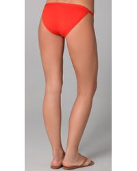 Tory Burch - Red Monogram Bikini Bottoms - Lyst