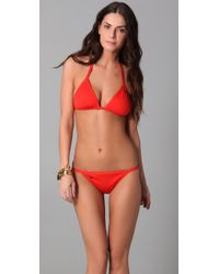 Tory Burch | Red Monogram Bikini Bottoms | Lyst
