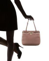 Valentino | Brown Rockstud Shoulder Bag | Lyst