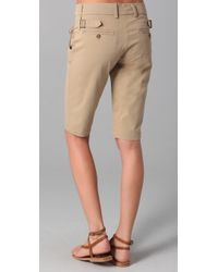 Vince - Natural Side Buckle Bermuda Shorts - Lyst