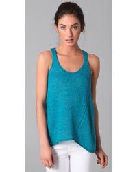 Vince - Blue Linen Knit Tank - Lyst