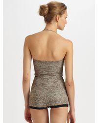 Bottega Veneta - Gray One-Piece Halter Swimsuit - Lyst