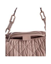 Dior - Gray Grey Cannage Quilted Lambskin Large Flap Shoulder Bag - Lyst